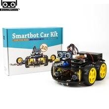 Умный робот автомобильный комплект KUONGSHUN включает UNO R3, ультразвуковой датчик, модуль Bluetooth для комплекта роботов Arduino