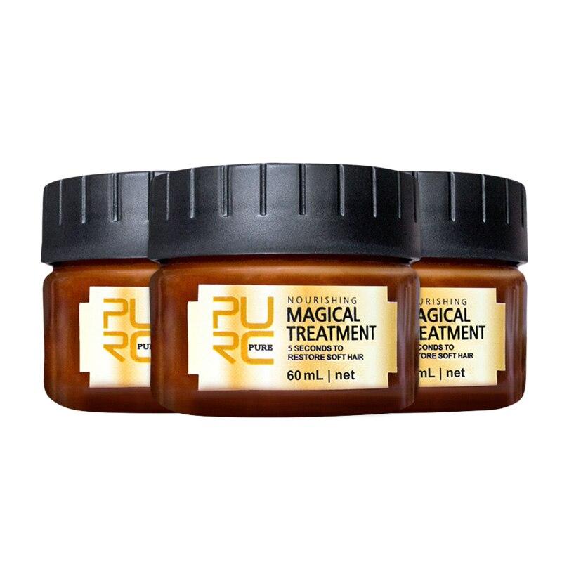 3/2/1 шт. PURC волшебная маска для лечения волос, 5-секундный ремонт, повреждение корней волос, мягкий тоник для волос, Кератиновый Уход за волоса...
