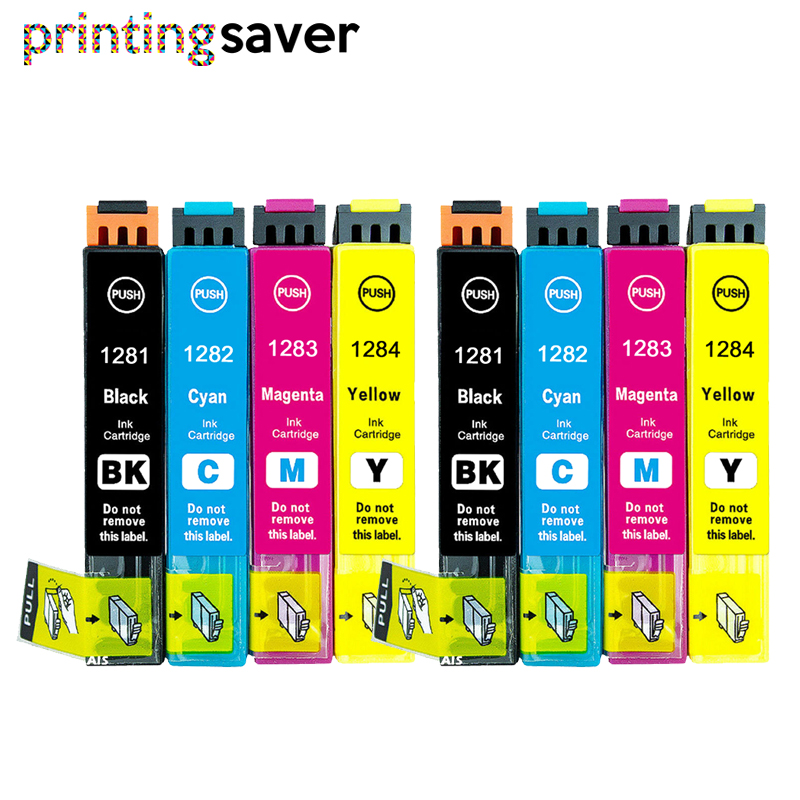 8Pcs T1281-T1284 T1285 ink cartridge for Stylus S22 SX125 SX130 SX235W SX420W SX425W SX435 445 BX305F printers