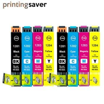 цена на 8Pcs T1281-T1284 T1285 ink cartridge for Stylus S22 SX125 SX130 SX235W SX420W SX425W SX435 445 BX305F printers