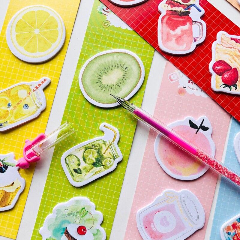 60 Sheets Summer Style Peach Lemon Yogurt Cake Memo Pads Notepads Decorative Stationery