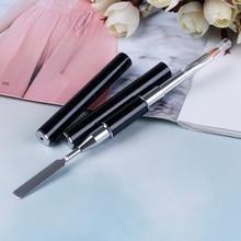УФ-полигелевая кисть, полигелевая ручка для дизайна ногтей, срезанная кисть, двухсторонний инструмент для среза, инструмент для полировки ногтей