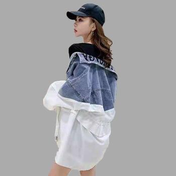 2020 Spring And Autumn New Plus Size Women's Clothing Wild Loose Windbreaker Women Denim Jacket Fashion Female Coat