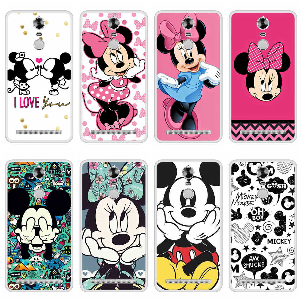 Phone Case for Lenovo K5 Note 2016 Soft Silicone TPU Mickey Minnie Patterned Printing for Lenovo K5 Note 2016 Case Cover