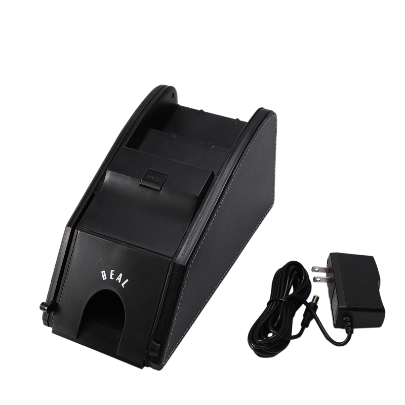 Hot 3C-Board Game Poker 2 in 1 Automatic Card Shuffler + Poker Card Dealing Shoe Support 2 Deck Playing Cards,US Plug