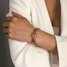 Metal Opening Bracelet Sleek Minimalist Geometric Personality Exaggerated Creative Open