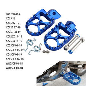 Motorcycle Footrest Footpeg Foot Pegs For Yamaha YZ 65 85 125 250 125X 250X 250FX 450FX WR 250F 450F YZF WRF 250 450 2001 - 2019(China)