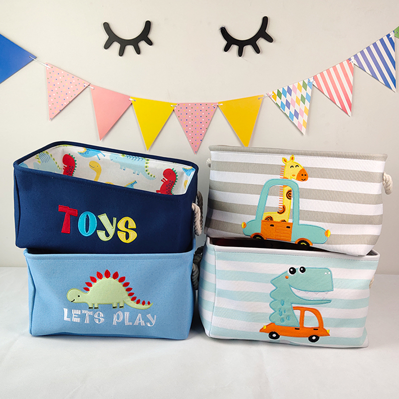Baby Laundry Basket Cute Dinosaur  Foldable Toy Storage Bucket Picnic Dirty Clothes Basket Box Canvas Organizer Cartoon Animal 2