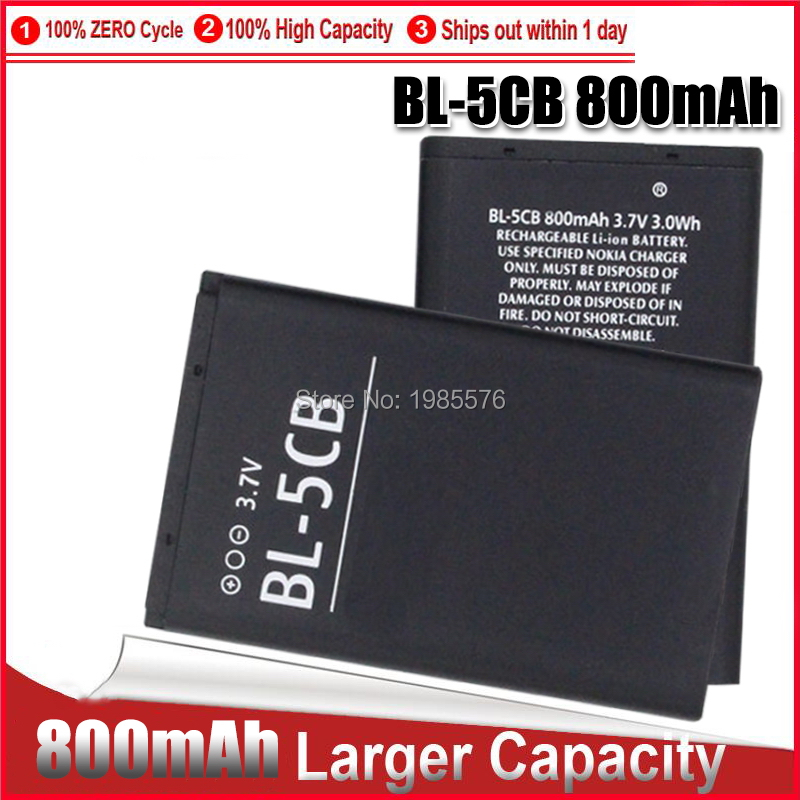 1-5 шт литиевая батарея для телефона BL-5CB BL5CB 3,7 V 800mAh батарея BL 5CB для Nokia 3600 3660 6620 6108 3108 N91 1280