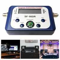 Buscador de satélite Digital SF-95DR metros Receptor de satélite Receptor de señal de TV decodificador satelital DVB-T2 Satfinder brújula LCD FTA plato