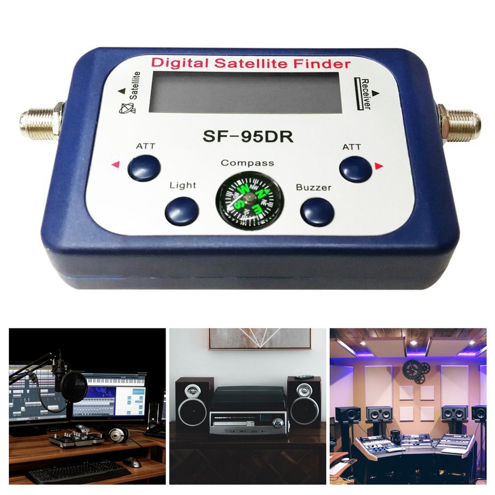 Digital Displaying Satellite Finder Meter Satfinder TV Signal Receiver Decoder Satlink Receptor Buzzer Compass LCD FTA Dis