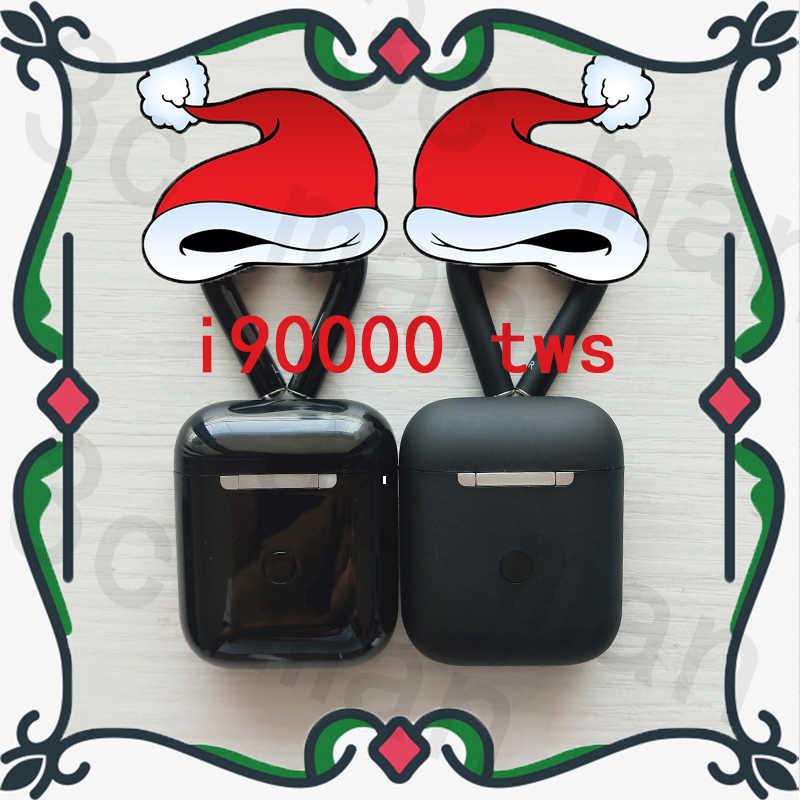 الأصلي i90000 tws ماتي الأسود سوبر نسخة الهواء 2nd بلوتوث سماعة 1536U رقاقة 6D الثقيلة باس سماعات PK i7s i200 i500 i9000