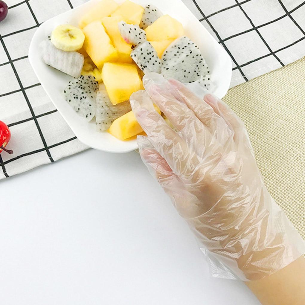 100pcs Children Disposable Gloves Restaurant Kitchen BBQ PE Material Food Grade Transparent Gloves