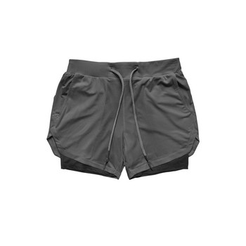 Camo running men shorts 2 in 1 dou