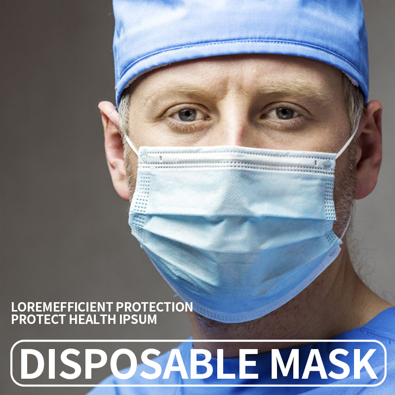 Disposable Protective Face Mask Adult Use Three-layer Meltblown Cloth Combination Masks Anti-fog Protective Bacterial Respirator