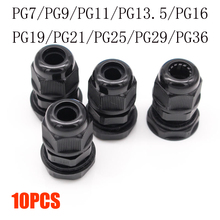 Cable Gland-Connector PG9 IP68 Waterproof Nylon PG16 PG13.5 PG11 PG7 Plastic for 3-6.5mm
