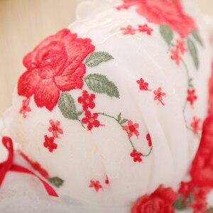 Image 3 - 2019 European sexy underwear embroidery flower mesh deep V on the girl lady bra set    2044
