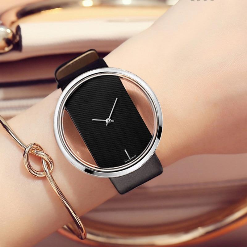 Free Shipping Watch Women Famous Designer Ladies Quartz-watch Popular Female Clock Leather Straps Women Watches Montre Femme