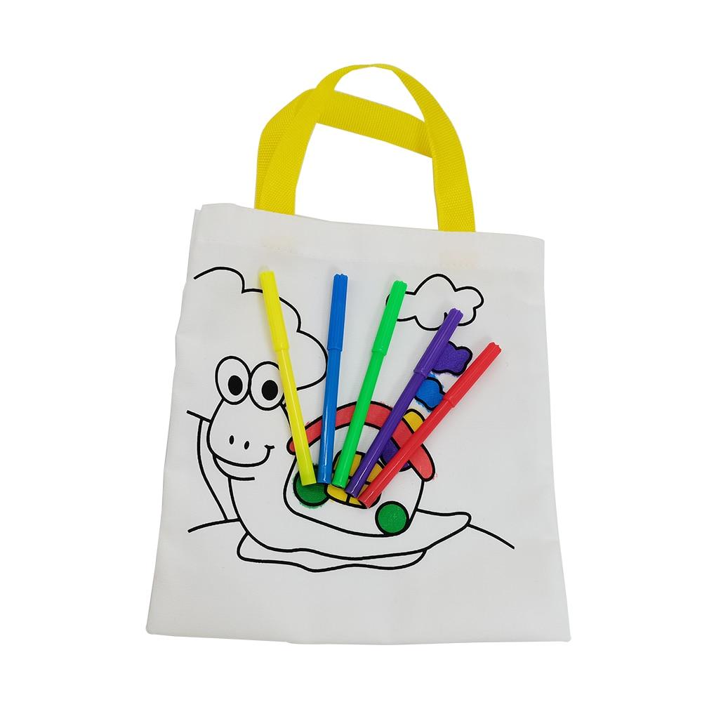Dziecięcy DIY środowiskowy worek z motywem graffiti dziecięcy przedszkole ręcznie robiony kolorowy obraz materiałów, kolorowanki edukacyjne