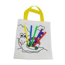 Borsa per graffiti ambientale fai-da-te per bambini scuola materna per bambini materiali per pittura a colori fatti a mano, colorazione educativa