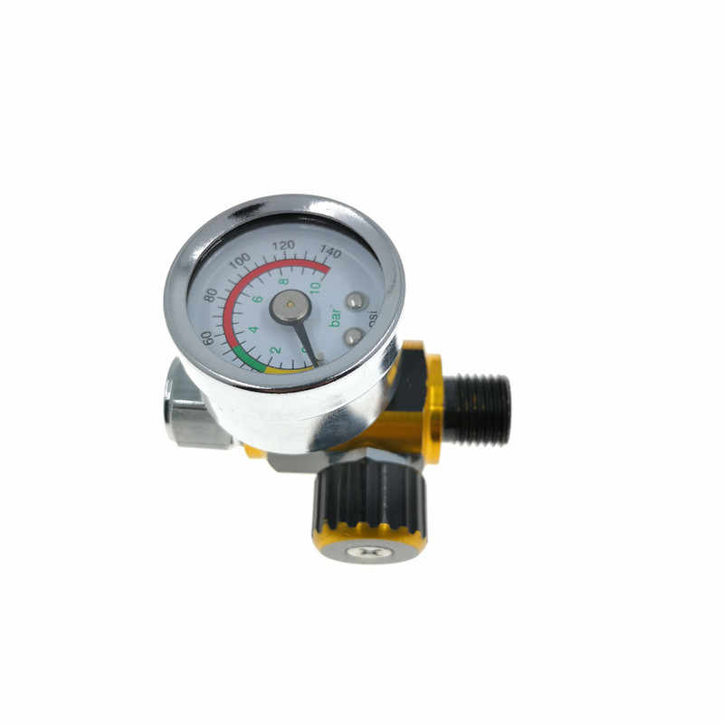 1pcs HVLP spuitpistool regulator horloge luchtdruk aanpassing regulator staart manometer Verf spuitpistool regulator