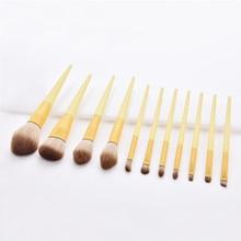 11Pcs/set makeup brush professional yellow handle for Foundation Powder make up