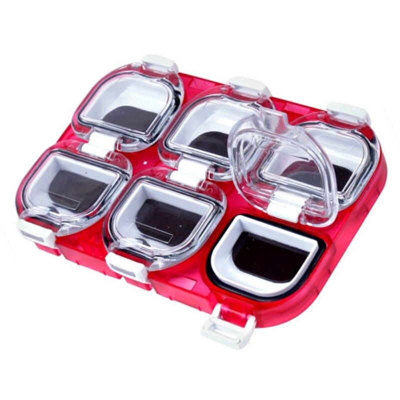 Magnetic Waterproof 6 Grid Fishhook Accessories Storage Box Fishing Tackle Box