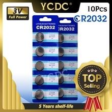 10ピース/ロットCR2032 3vリチウム電池監視リモコン電卓CR2032 2032 5004LC ECR2032ボタン電池コイン電池