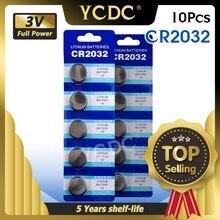 10 adet/grup CR2032 3V lityum pil için İzle uzaktan kumanda hesaplama CR2032 2032 5004LC ECR2032 düğme hücre para pil