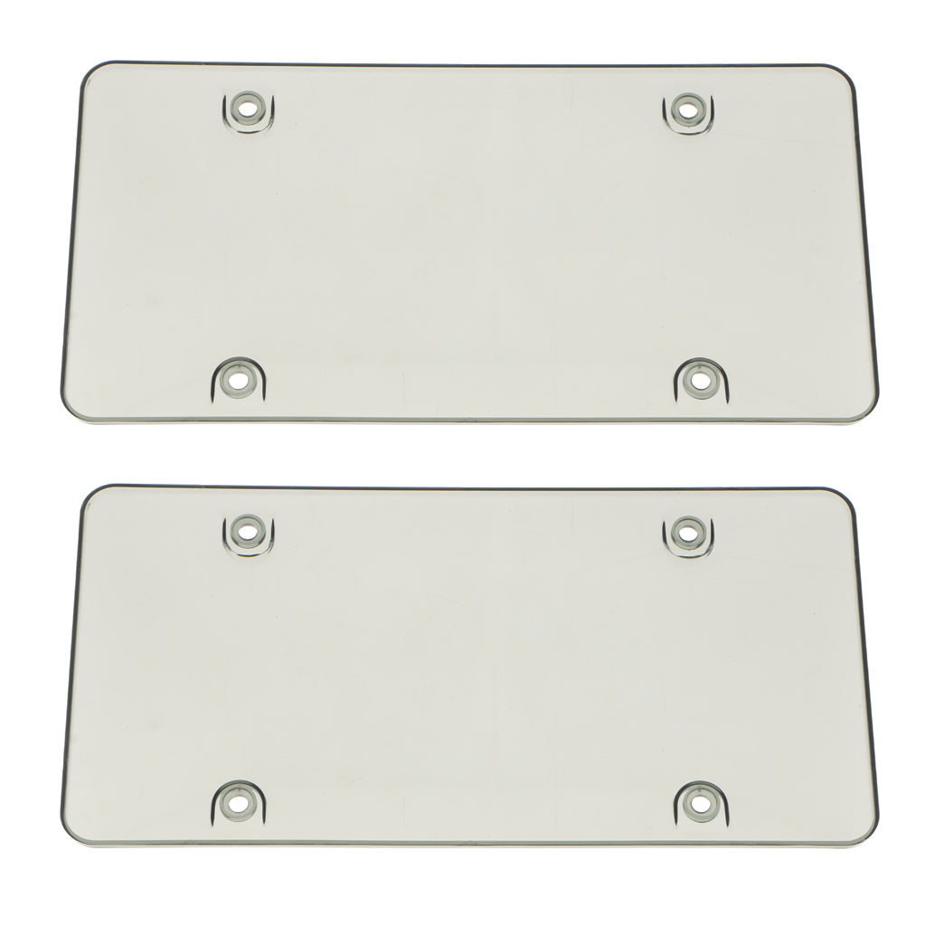 2Pcs License Plate Tag Frame Cover Shield for US Car Truck Accessories Grey