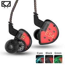 Kz es4 armadura equilibrada com dinâmico in-ear fone de ouvido ba driver cancelamento de ruído fone de ouvido com microfone kz as10 zs5 zs6 zs10 ba10