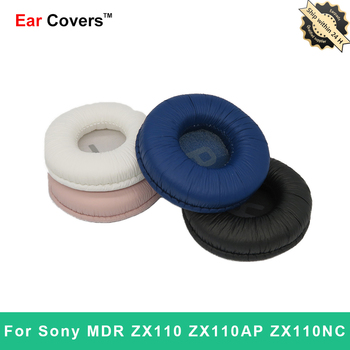 Ear Pads For Sony MDR ZX110 ZX110AP ZX110NC Headphone Earpads Replacement Headset Ear Pad PU Leather ear pads for sony mdr zx770bn mdr zx770ap mdr zx770bn zx770ap headphone earpads replacement headset ear pad pu leather