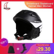 MOON лыжный шлем ультралегкий цельный высококачественный профессиональный сноуборд скейтборд шлем для мужчин и женщин много цветов