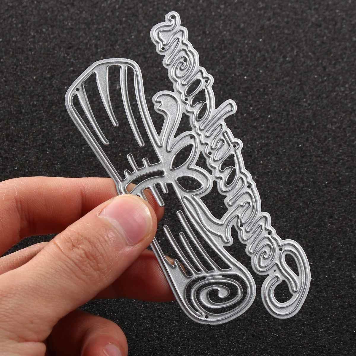 1 pcs Congratulazioni Lettera A Tema Scrapbooking FAI DA TE Album Carta Diario di Carta Del Mestiere Maker Metallo di Fustelle