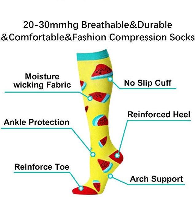 40 estilos de qualidade unisex meias de compressão ciclismo meias apto para edema, diabetes, varizes, correndo maratona meias 3