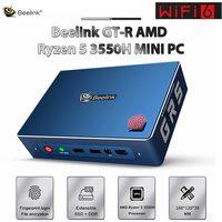 Beelink GTR MINI PC AMD Ryzen 5 3550H WIFI 6 Windows 10 16GB 512GB SSD Interacción de voz Oficina Juegos de PC computadora TV caja
