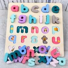 30*30CM Baby Kids Puzzles Wooden Toys Alphabet Digital Board