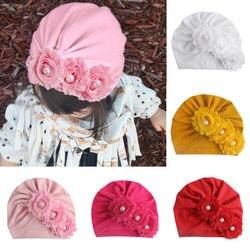 Шапка для новорожденных девочек, облегающие шапки, головной убор, бандо, детская одежда для девочек с бисером