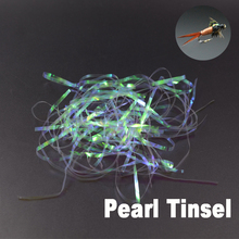 CONTEMPLATOR 3mm pearl flash holographic tinsel scud back 2bags narrow shinning film stonefly nymph thin skin fly tying material utc pearl tinsel ice blue