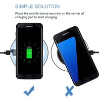 Wireless Charger for iPhone X Xs MAX XR 8 plus Fast Charging for Samsung S8 S9 Plus Note 9 8 USB Phone Charger Pad 2