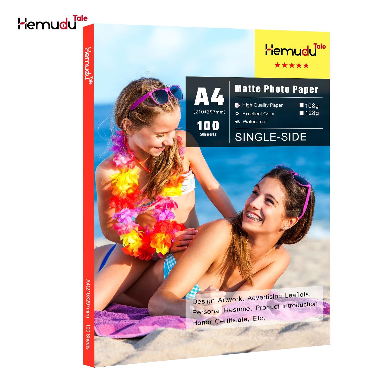 A4 Matte Photo-Paper 100sheets Waterproof For Inkjet Printer Paper Imaging Supplies Printing