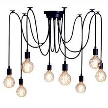 Nordic Spider Industrial Pendant lamp E27 Hanging Pendant Lights Lamps Edison Bul for Bedroom Decoration Office Home Restaurant