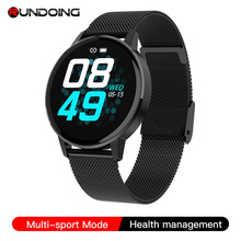 Rundoing t4 mulheres relógio inteligente masculino freqüência cardíaca monitor de pressão arterial moda esporte relógio de fitness rastreador para android ou ios