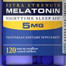Rapid Release Melatonin 5 mg 120 Count Night Sleep Assistance, free shipping