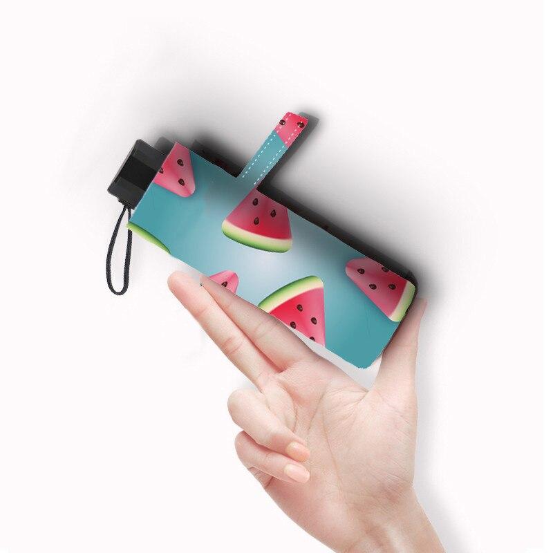 DMBRELLA Small Fashion Folding Umbrella Rain Women Gift Mini Pocket Parasol Girls Anti-UV Waterproof Watermelon Travel UMBRELLAS