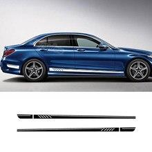 Autocollant de jupe à rayures latérales de voiture, édition 1 507 Style, pour Mercedes Benz classe C W204 C63 coupe S204 AMG, accessoires de voiture