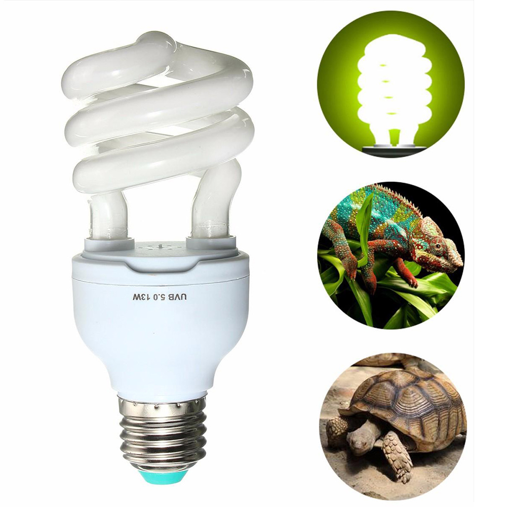 5.0/10.0 UVB 13W Reptile Light Bulb UV Lamp Reptile Vivarium Terrarium Tortoise Turtle Snake Pet Heating Light Bulb 220v-240v M8