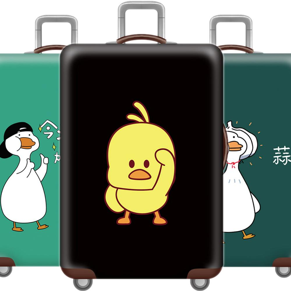Kawaii 3D Little Duck Luggage Cover Protective Case Thicken Waterproof Elastic Suitcase Cover 18-32 Ince XL Travel Accessorie