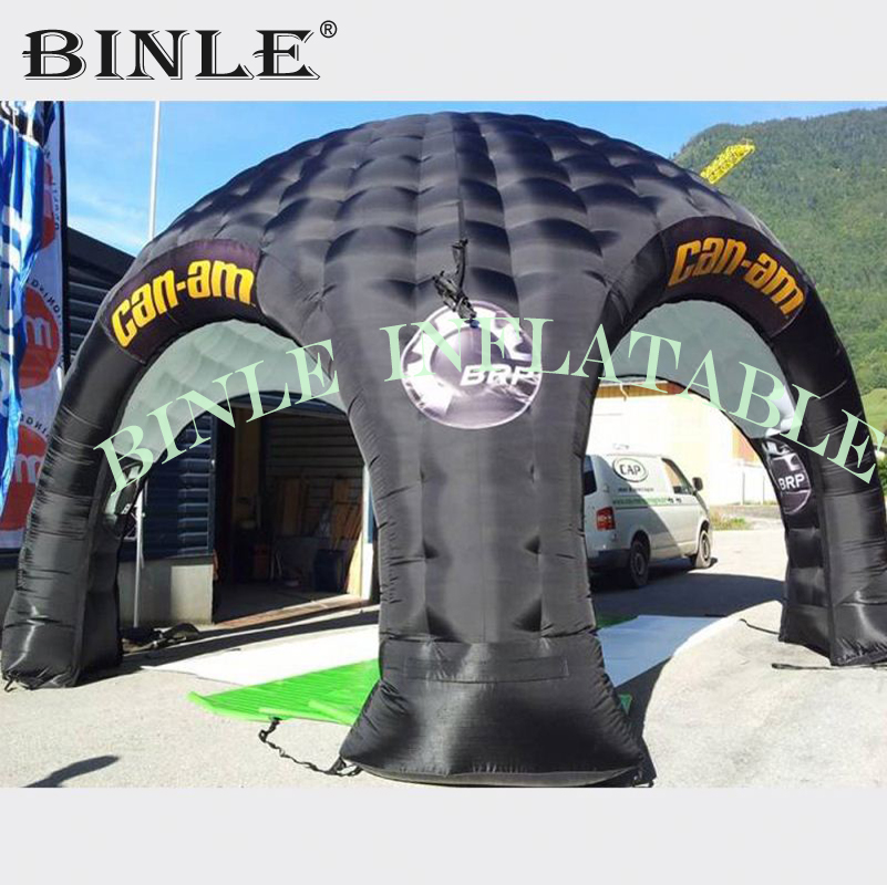 5m small black air inflatable dome tent inflatable spider tent advertising promotion trade show booth pop up event gazebo canopy