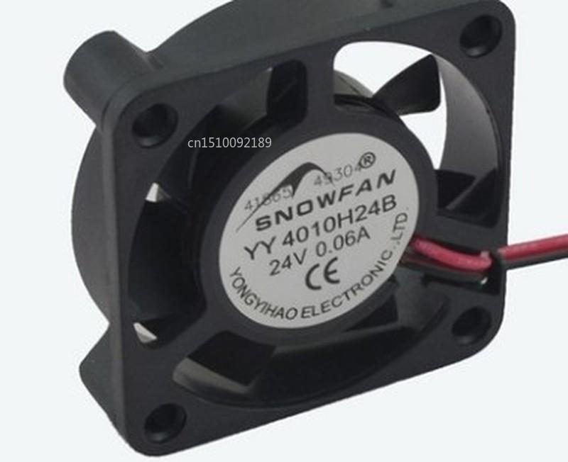 For SNOWFAN YY4010H24B Double Ball Bearing DC 24v 4CM / Cm 4010 Cooling Fan Free Shipping